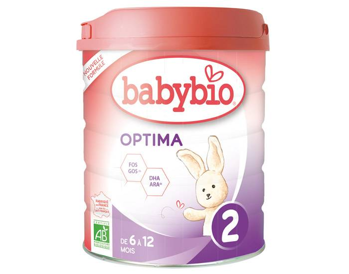 BABYBIO Pack x3 Lait de Suite 2 Optima - Dès 6 mois - 800 g