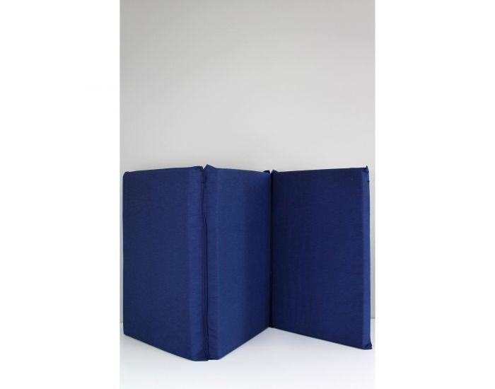 KADOLIS Matelas Bébé Pliant 3 Parties 60x120 cm Bleu Marine