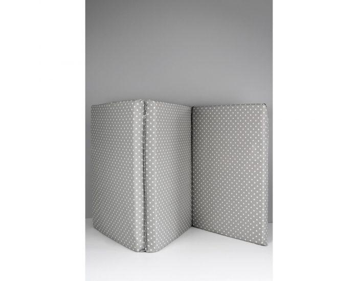 KADOLIS Matelas Bébé Pliant 3 Parties 60x120 cm Gris Etoiles
