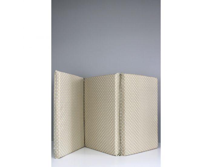 KADOLIS Matelas Bébé Pliant 3 Parties 60x120 cm Beige Etoiles