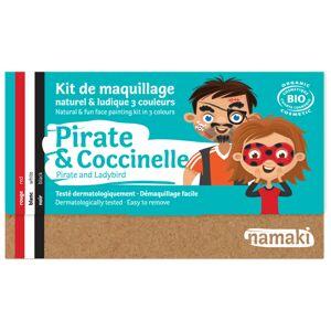 NAMAKI Kit de Maquillage 3 Couleurs - Pirate et Coccinelle