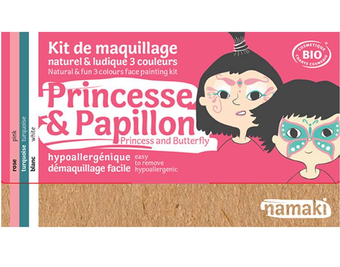 NAMAKI Kit de Maquillage 3 Couleurs - Princesse et Papillon