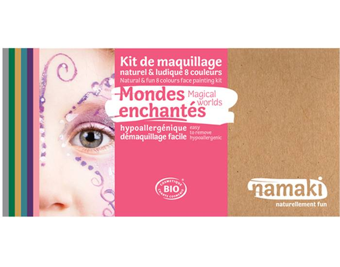 NAMAKI Kit de Maquillage 8 Couleurs - Mondes Enchantés