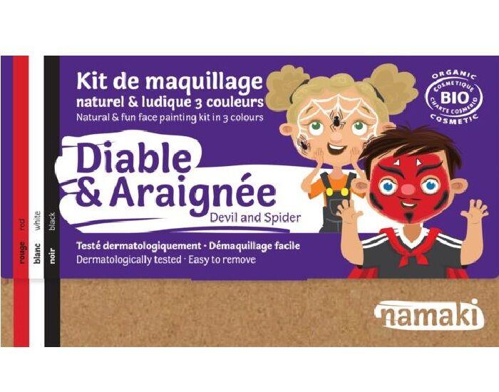 NAMAKI Kit de Maquillage 3 Couleurs - Diable et Araignée