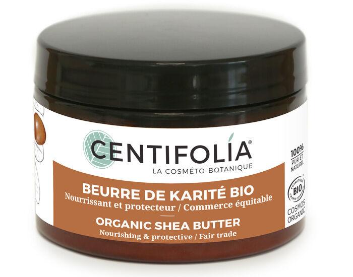 CENTIFOLIA Beurre de Karité 100% Pur Neutre et Bio - 125 ml