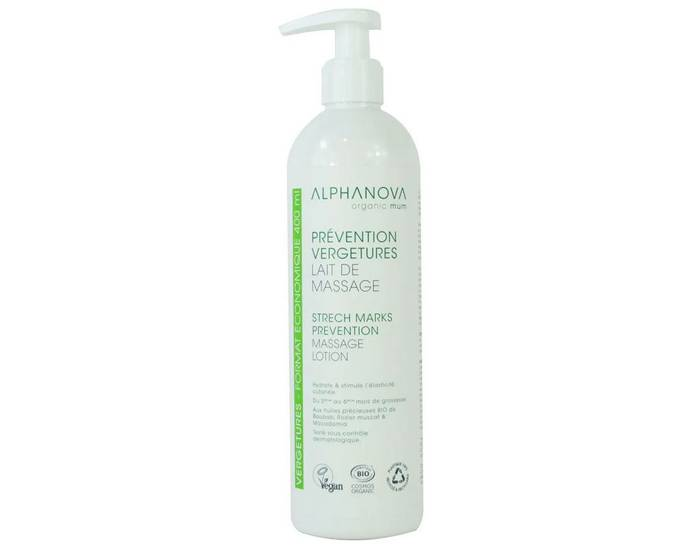 ALPHANOVA Santé Lait de Massage Prévention Vergetures - 400 ml