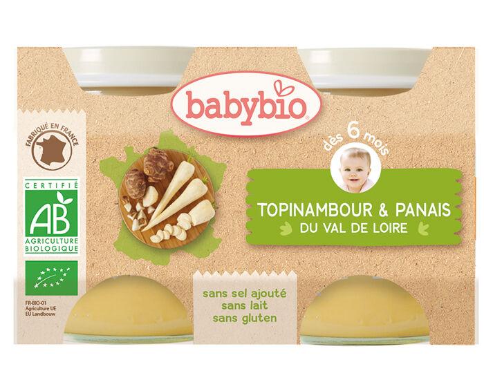 BABYBIO Mes Légumes - 2x130g Topinambour - Panais du Val de Loire - 6 mois
