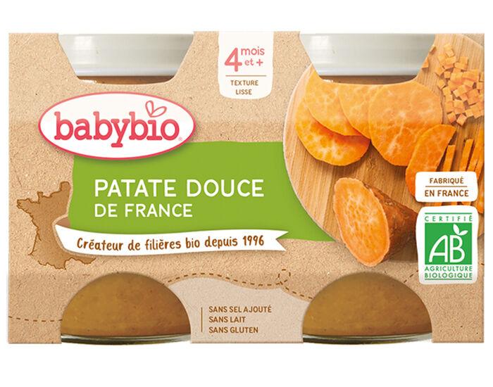 BABYBIO Mes Légumes - 2x130g Patate Douce - 4 mois