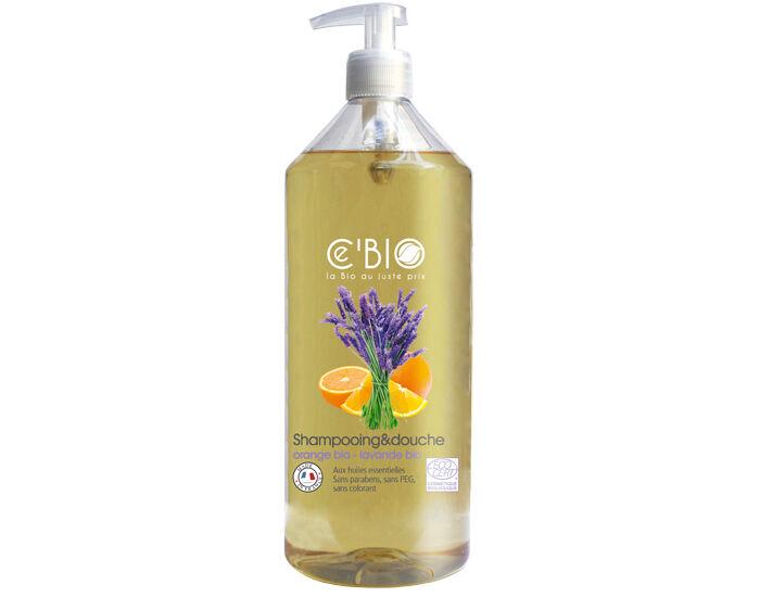 CE'BIO Shampooing Douche Orange Lavande - 1 L