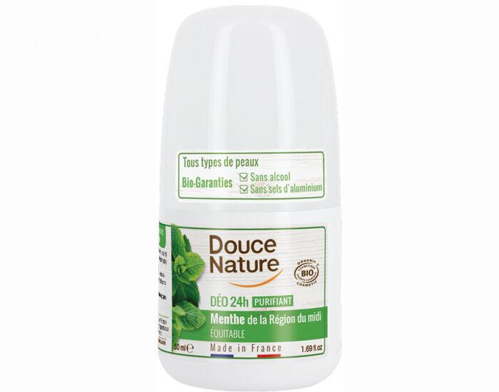 DOUCE NATURE Déodorant Bille Purifiant à la Menthe - 50 ml