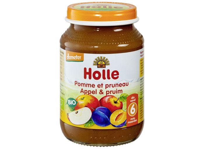 HOLLE Petit Pot de Fruits - 190 g Pomme-Pruneau - 6M