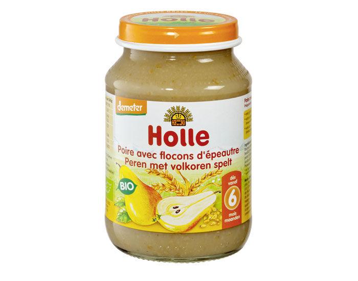 HOLLE Petit Pot de Fruits - 190 g Poire-Flocons d'épeautre - 6M