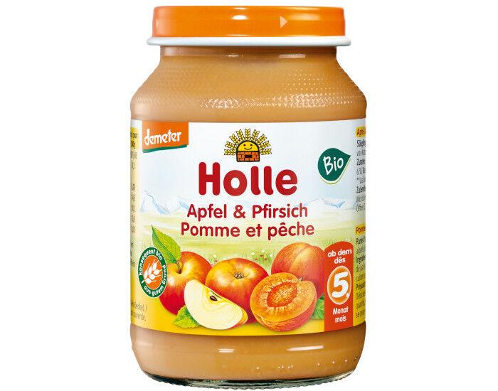 HOLLE Petit Pot de Fruits - 190 g Pêche - Pomme - 4M