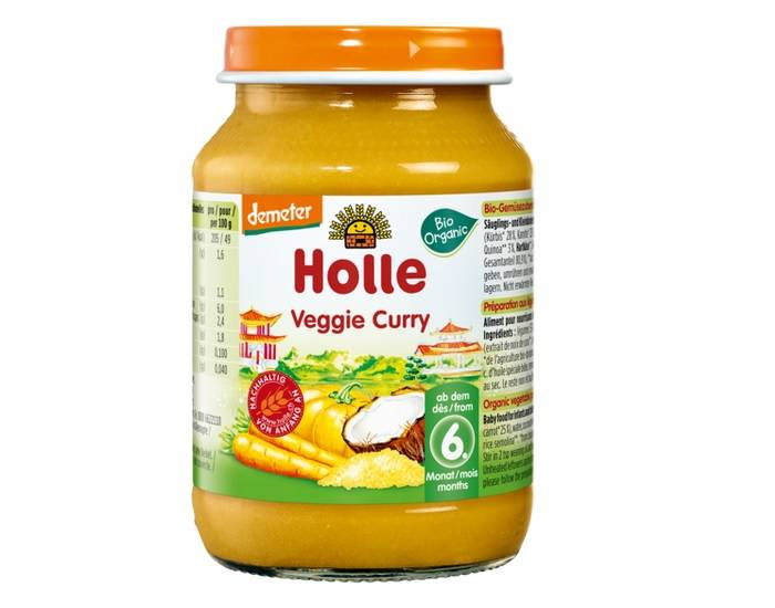 HOLLE Petit Pot Légume - 190 g Veggie Curry