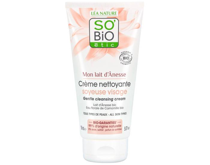 SO'BIO Crème Caresse Hydratante Mains au Lait d'Anesse - 75 ml