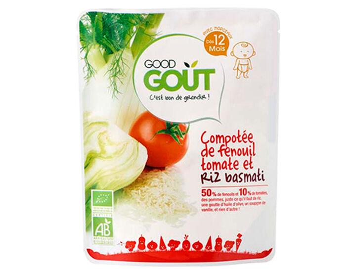 GOOD GOûT GOOD GOUT Petit Plat pour Bébé 220 g - Compotée Fenouil Riz Basmati - Dès 12 mois