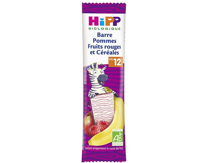 HIPP Barre Fruitée - 25g - Dès 12 Mois Pommes Fruits Rouges et Céréales