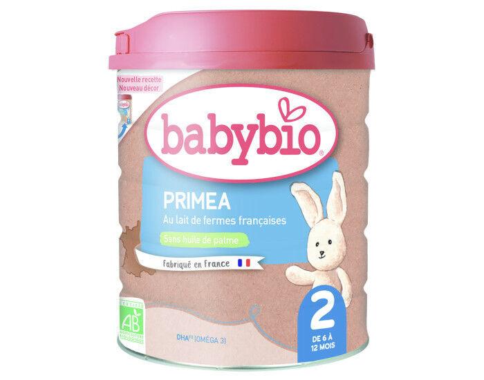 BABYBIO Lait de Suite 2 Primea - Dès 6 Mois - 900g