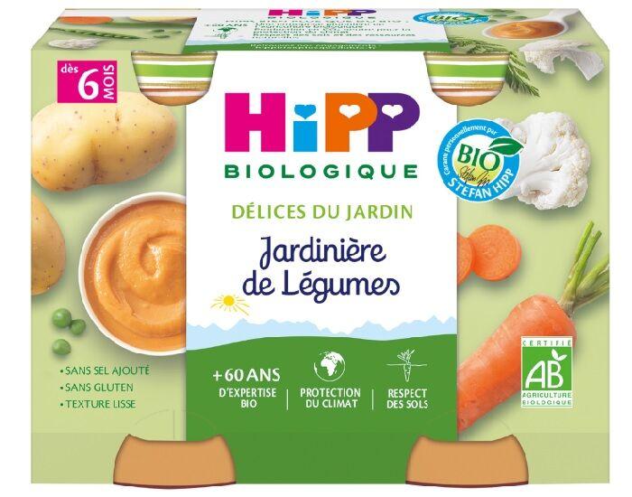 HIPP Mes premiers Légumes - 2 x 190 g Jardinières de Légumes - 6M