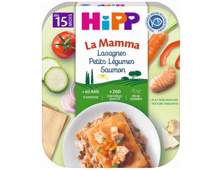 HIPP Pâtes à l'Italienne de la Mamma- Assiette 250 g - Dès 15 Mois Lasagnes Petits Légumes Saumon