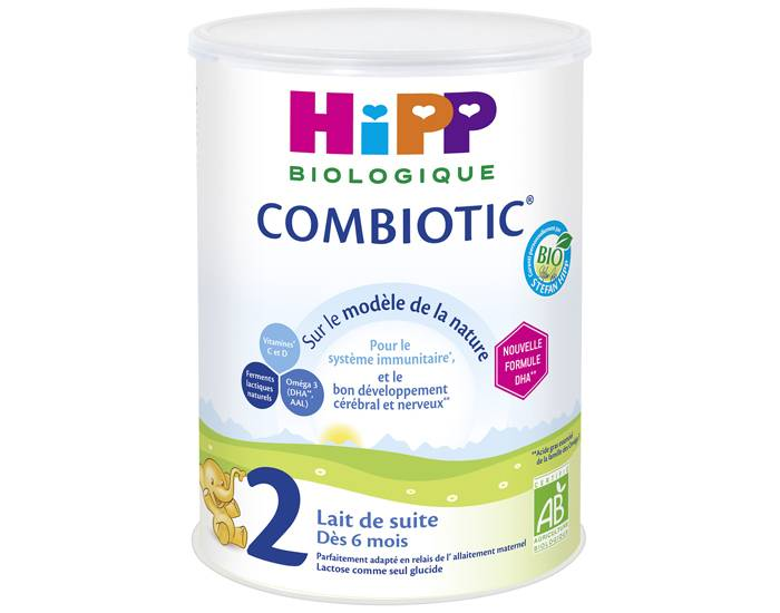 HIPP Pack x3 Lait de Suite 2 Combiotic - Dès 6 Mois - 900g