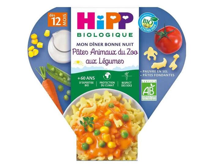 HIPP Les Pré-Maternelles Pâtes - 230g - Dès 12 mois Animaux du Zoo aux Légumes