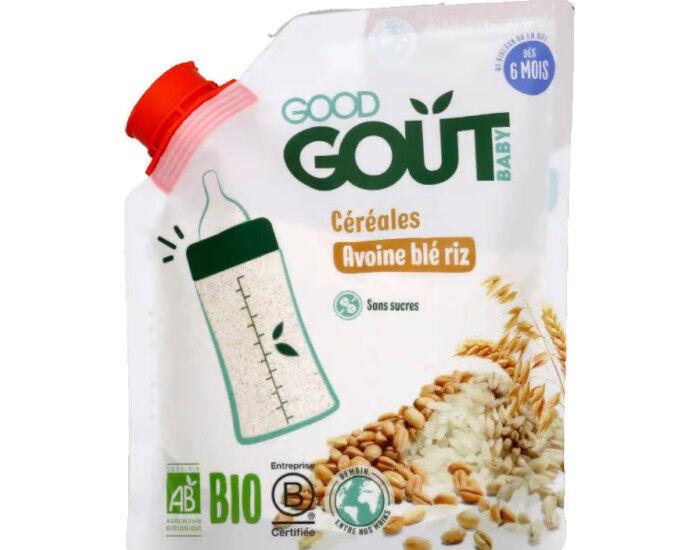 GOOD GOûT GOOD GOUT Céréales en Poudre Avoine Blé Riz - 200 g - Dès 6 mois