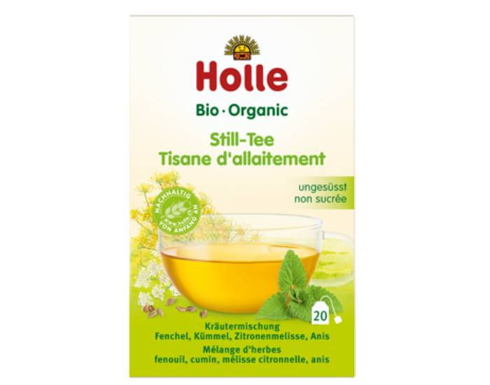 HOLLE Pack Tisane Bio d'Allaitement 2 boites de 20 sachets