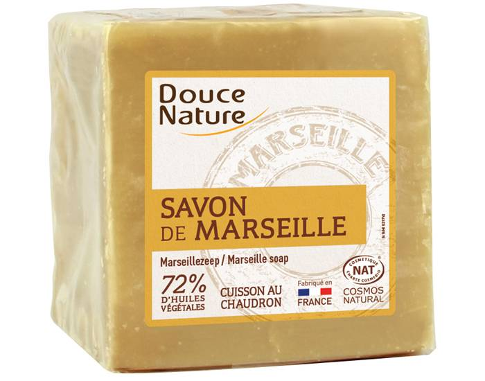 DOUCE NATURE Pack x2 Savon Blanc de Marseille - 300 g x2 savons