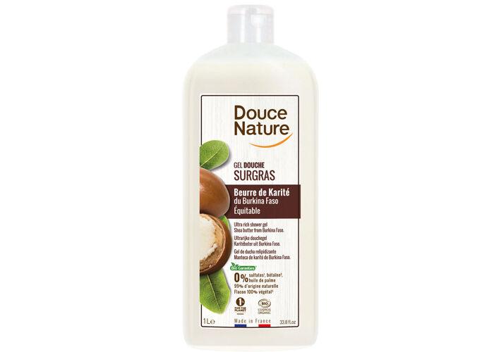 DOUCE NATURE Crème Douche Surgras à l'Huile de Karité - 1 L