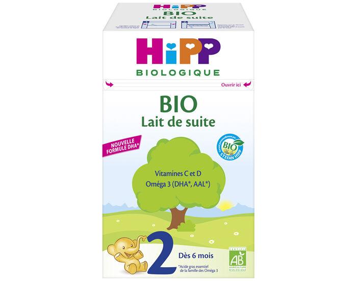 HIPP Lait de Suite Bio 2 - Dès 6 Mois - 800g