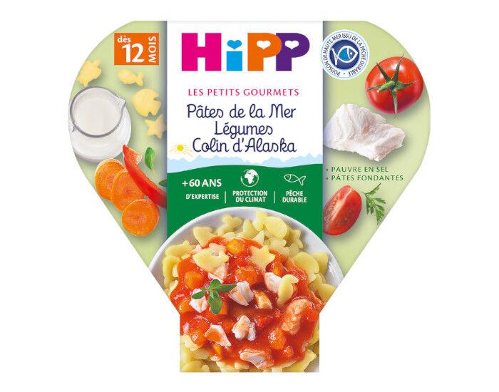 HIPP Les Pré-Maternelles - Pâtes de la Mer Légumes Colin Alaska - 230g - Dès 12 mois