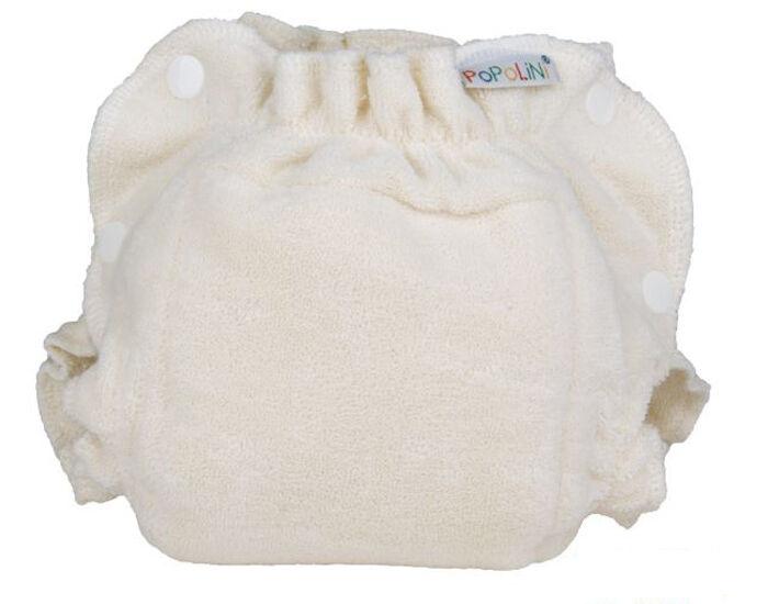 """POPOLINI Couche lavable """"TwoSize Soft"""" - Coton - Nature Large 8 - 16 kg"""