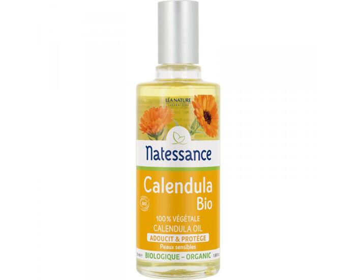 NATESSANCE Huile Végétale de Calendula Bio - 50 ml
