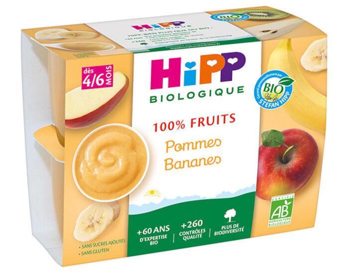 HIPP 100% Fruits - 4 x 100 g Pommes Bananes - 4M