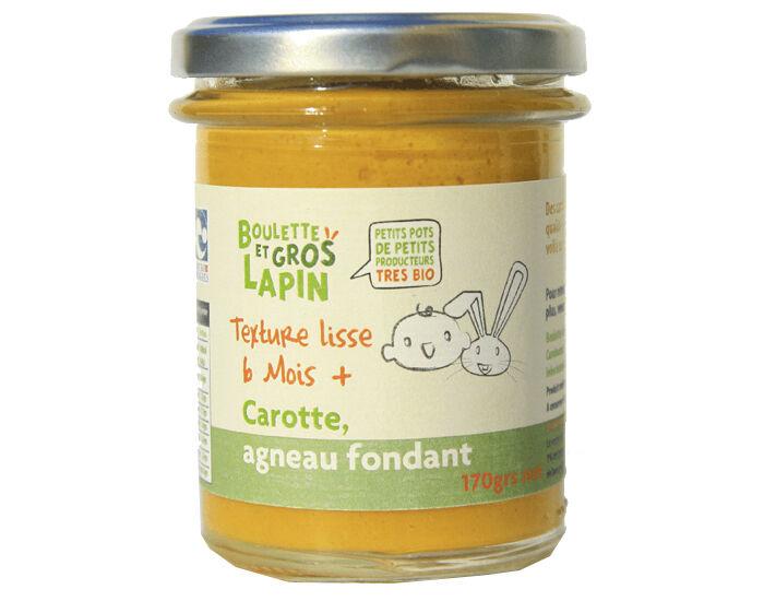 BOULETTE ET GROS LAPIN Petit Pot Carotte Agneau - Dès 6 mois - 170 g