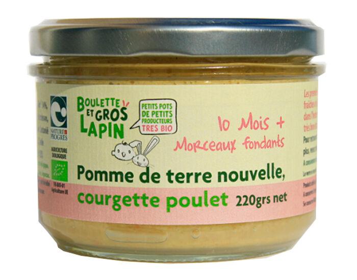 BOULETTE ET GROS LAPIN Petit Pot Pommes de Terre Nouvelles Courgette Poulet - Dès 10 mois - 220 g
