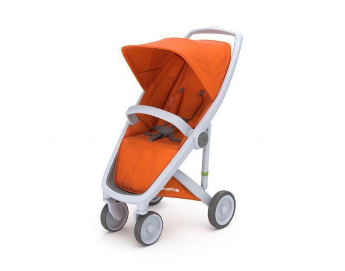GREENTOM Greentom - Poussette écologique Upp Classic - orange / gris