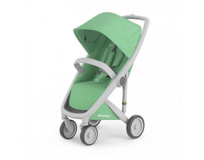 GREENTOM Greentom - Poussette écologique Upp Classic - vert menthe / gris