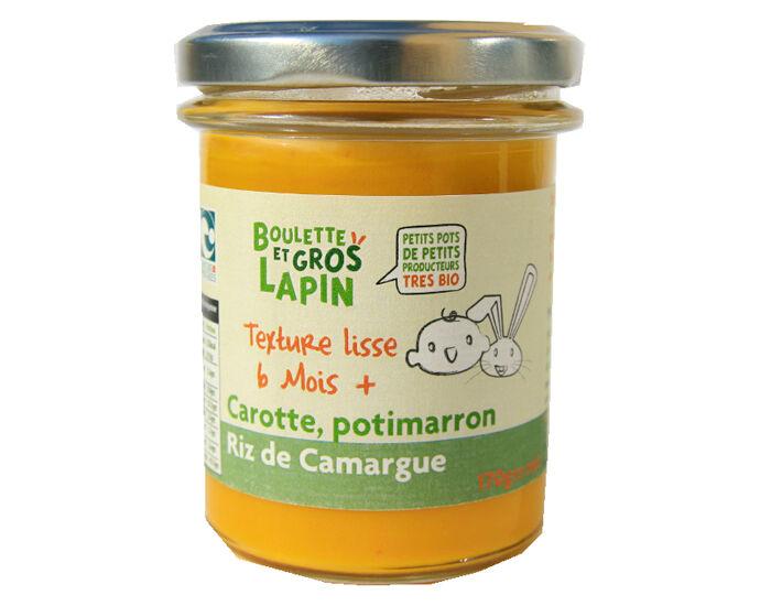 BOULETTE ET GROS LAPIN Petit Pot Carotte Potimarron Riz de Camargue - Dès 6 mois - 170 g