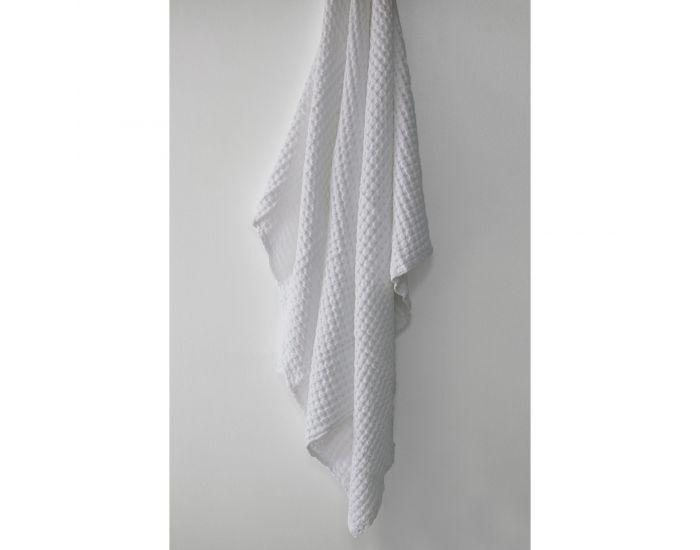 KADOLIS Couverture en Coton Bio - Paros Blanc 130 x 180 cm