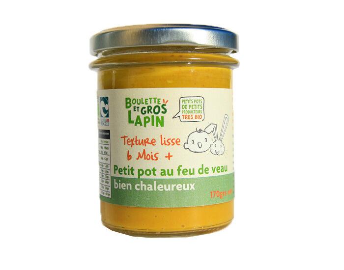 BOULETTE ET GROS LAPIN Petit Pot au Feu de Veau Bien Chaleureux - Dès 6 mois - 170 g