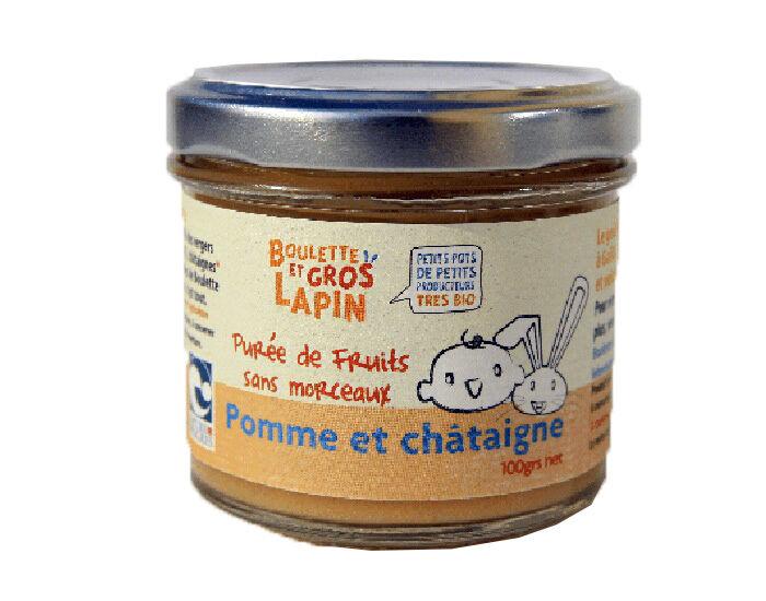 BOULETTE ET GROS LAPIN Petit Pot Purée de Pomme Châtaigne - 100 g - Dès 6 mois
