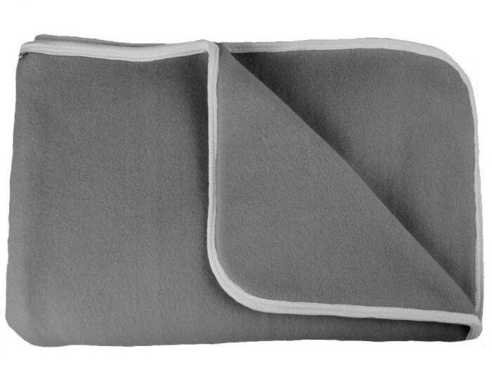 POPOLINI Couverture Polaire de Coton Bio - Anthracite - 90 x 70 cm
