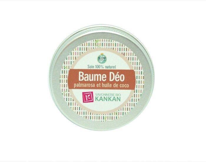 SAVONNERIE BIO KANKAN Baume Déo - Palmarose et Huile de Coco - 30 g