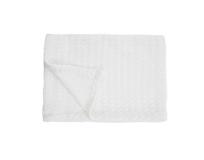 BEBESEO Couverture Bio Tricot 110X75 CM Blanc