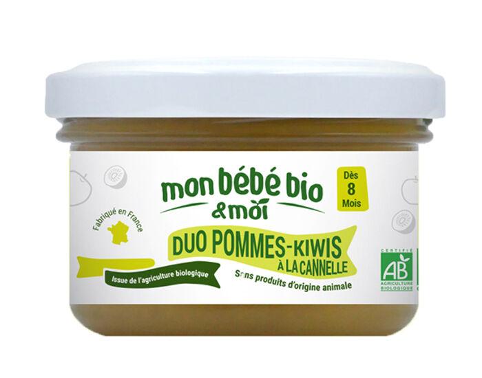 MON BéBé BIO ET MOI MON BEBE BIO ET MOI Pot Duo Pomme Kiwi Canelle - 100g - Dès 8 mois