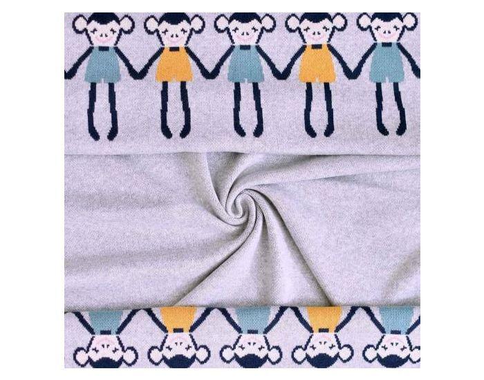 SEVIRA KIDS Couverture bébé légère en coton biologique - Singe