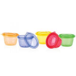 NUBY Pots de Conservation Colorés - 120 ml - Lot de 6