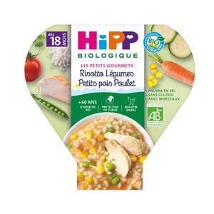 HIPP Assiette - Les Petits Gourmets - 200, 230g ou 260g Risotto Légumes Petit Pois Poulet - 18M
